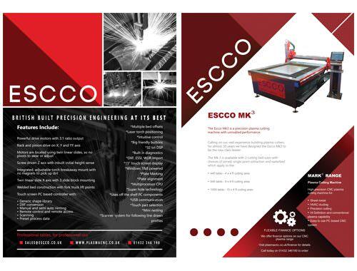 brochure insert for escco the dm lab